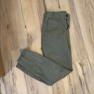 J crew stretch army green chinos - 00P